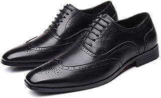 Mignon CH Chaussures en Cuir Hommes, Chaussures en Oxfords Derbies Chaussures d'affaires, Chaussure Formelles à Lacets pou...