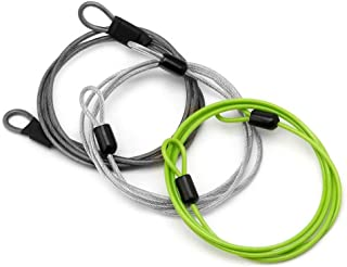 GOOTRADES 3 Pack Outdoor Travel Security Loop Cable Lock Lightweight Tiny U-Lock (2mm,40 Inch Long)