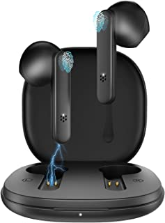 GAMURRY Auriculares inalámbricos, Auriculares Bluetooth con micrófono dual Auriculares inalámbricos, Auriculares con tiemp...