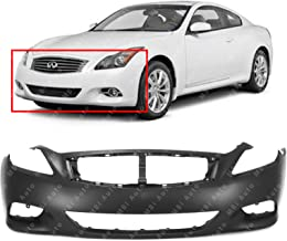 MBI AUTO - Primered, Front Bumper Cover for 2008-2015 Infiniti G37 Q60 2-Door Coupe 08-15, IN1000237