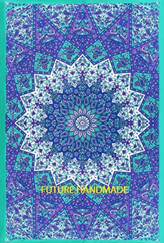 FUTURE HANDMADE Indio Tradicional Mandala Hippie Tapiz para Colgar en la Pared, Colcha de algodón Bohemia Colgar En la Pared Psychedelic Vino Mandala Tapiz
