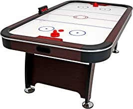 Sunnydaze 7 ft Air Hockey Table - Arcade Game for Game Room - Includes Electric Scorer, Pushers, and Pucks