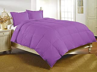 Lilac Stitched Quilted Comforter with Duvet Cover 300 GSM 1000 Thread Count 100% Egyptian Cotton Pillowcase 1 Qty Size King 102-by-90 inch