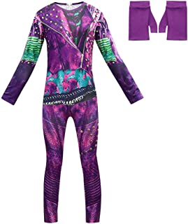 Heneray Halloween Witch Princess Girl Costumes 3D Printed Onesie Cosplay Including Gloves
