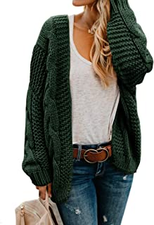 Meikulo Womens Open Front Sweater Cardigans Oversized Cable Knit Fall Casual Coat