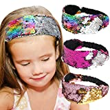 Beinou Sequin Headband Mermaid Sequins Reversible Hairband Filp Gitter...