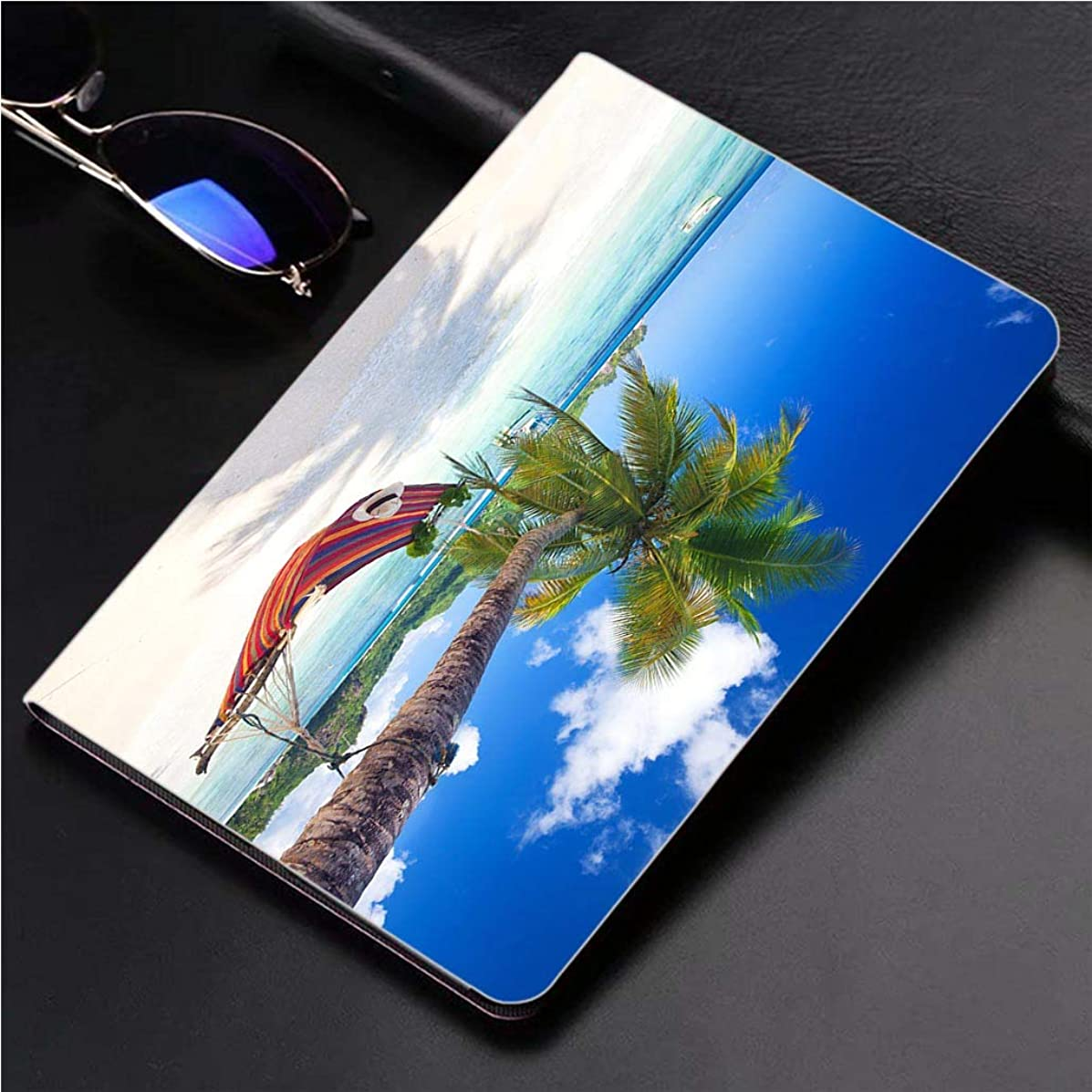Compatible with 3D Printed iPad Pro 10.5 Case Tropical Paradise Beach 360 Degree Swivel Mount Cover for Automatic Sleep Wake up ipad case