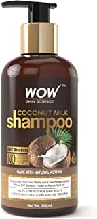 WOW Coconut Milk No Parabens, Sulphate, Silicone, Salt & Color Shampoo, 300mL