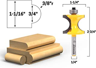 Yonico 13117q 3/4-Inch Bead Bullnose Router Bit 1/4-Inch Shank