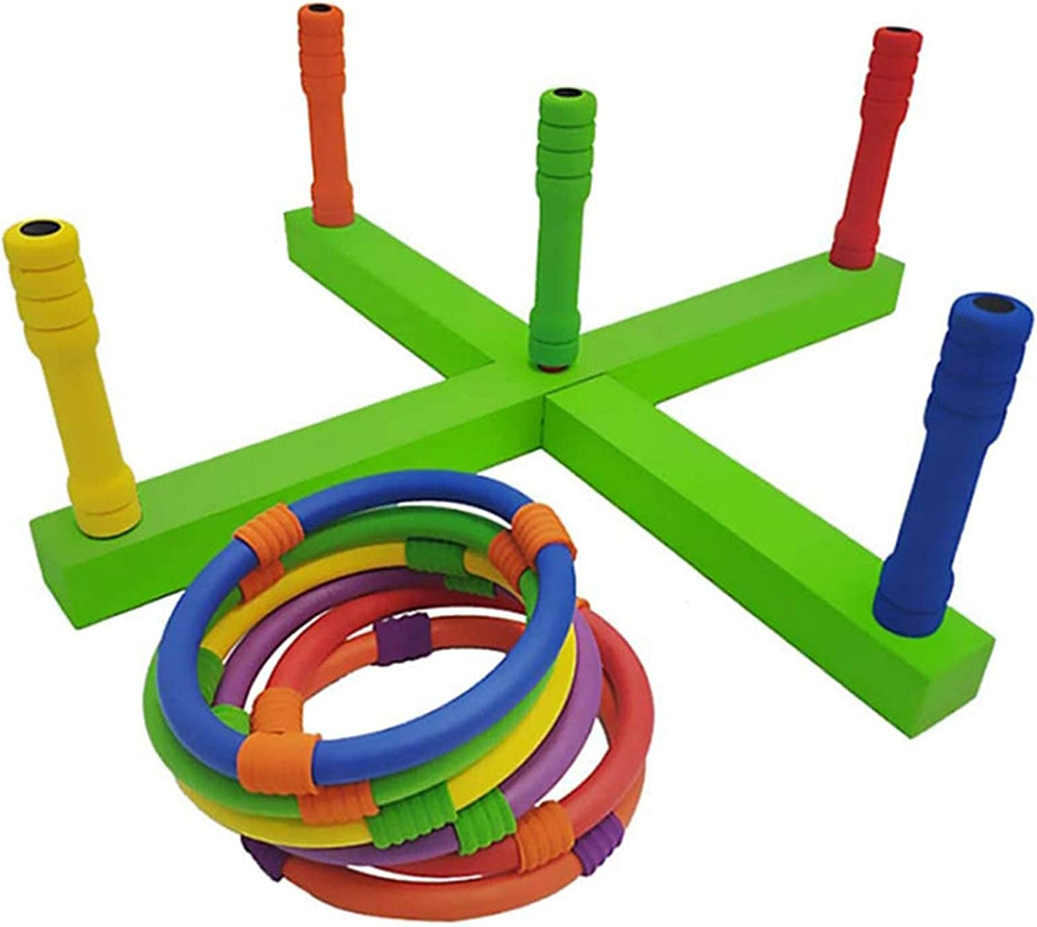 GCCBQM Soft Our shop OFFers the best service Foam Throw Ring Wooden Handmade Game All items free shipping Outdoor Indoor
