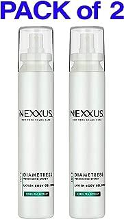 (PACK of 2) Nexxus Diametress Volumizing System - LAVISH Body Gel Spray - 5.1 Fl Oz (150 ml) STEP 3 - GREEN TEA EXTRACT