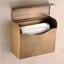 Messing geborstelde afwerking handdoek, retro badkamer handdoekenrek met roestbestendig waterdicht, wandmontage schroeven ...