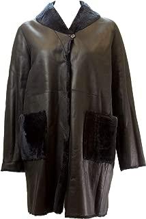 Marina Rinaldi Women's Eneide Shearling Reversible Coat, Navy