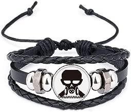DIYthinker Pollution Biochemical Cyborg Gas Mask Bracelet Braided Leather Rope Bead Wristband