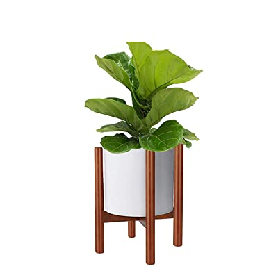 Mid Century Modern Plant Stand, Wooden Indoor F...