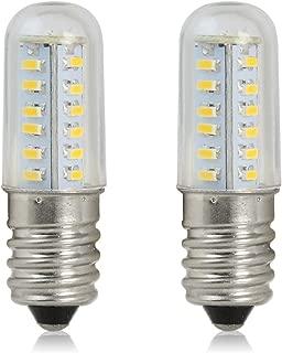 REELCO Mini E14 LED Light Bulb 2Watt Refrigerator Light Candle Lights 120V White 6000K Equivalent 10W Halogen Bulb (2pcs Pack)