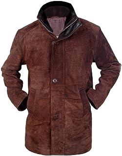 Flesh & Hide F&H Men`s Sheriff Walt Longmire Robert Taylor Genuine Leather Coat