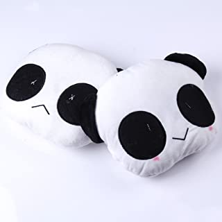 Vktech 2pcs Cute Panda Car Seat Plush Head Rest Cover Neck Support Cushion Pillow for Christmas ~ Birthday~Gift ~Child