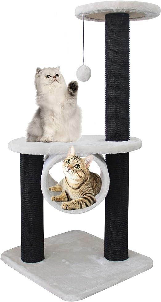 BPS Árbol Rascador Gato Juguete para Gatos con Bola Poste y Cilindro Plataforma Encima Material Rugoso 46x41x96 cm BPS-3293: Amazon.es: Productos para mascotas