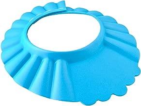 Iso Trade Duschhaube Kinder Badekappe Verstellbar 13-15cm Ohr- und Augenschutz Universal 1835, Farbe:Blau