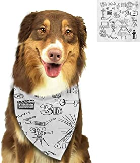 W Machine Sky 2019 Adjustable Pet Dog Neck Scarf Moroccan,Oriental Motif with Mix of Hippie Retro Circle Morocco Mosaic Lines Sacred Design Print,Multi for Small Dogs Neckerchief