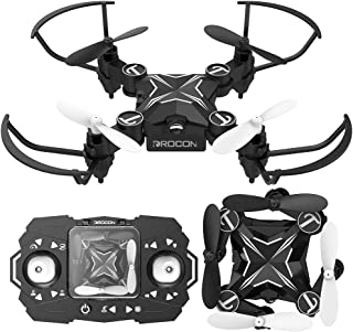 DROCON Mini RC Drone for Kids, Portable Pocket Quadcopter with Altitude Hold Mode, One-Key Take-Off & Landing, 3D Flips and Headless Mode, Easy to Fly for Beginners