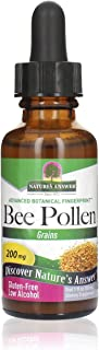 Nature's Answer Bee Pollen Supplement with Organic Alcohol, 1-Fluid Ounce | Packed with Enzymes & Vitamins | Natural Prote...