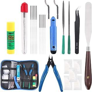 کیت ابزار تمیز کردن نازل چاپگر 3D Glarks 24Pieces ، شامل سوزن های تمیز کننده 0.35 میلی متر 0.4 میلی متر ، چاقو پالت ، ابزار رفع اشکال ، موچین ، ابزار پرونده ، بسته های گریس ، سیم برش ، چسب چسب