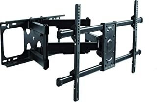 "Premim Mount - Heavy Duty Dual Arm Articulating TV Wall Mount Bracket for Panasonic TH-86SQ1W 86"" 4K LCD 15.2mm Pro Indoor Display Tilt & Swivel with Reduced Glare - Buy Smart!"