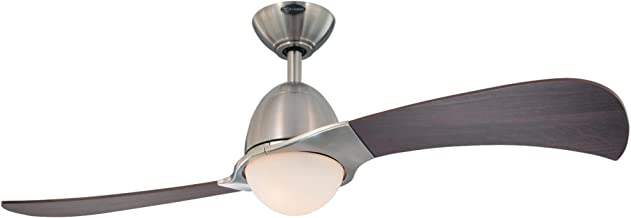Westinghouse Lighting 7216100 Solana 48-Inch Brushed Nickel Indoor Ceiling Fan, Light Kit with Opal Frosted Glass