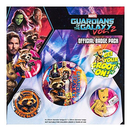 Guardians Of The Galaxy Lote de chapas Vol.2 - Cosmic para Unisex multicolor Plastico + [Effekte/Besonderheiten] +
