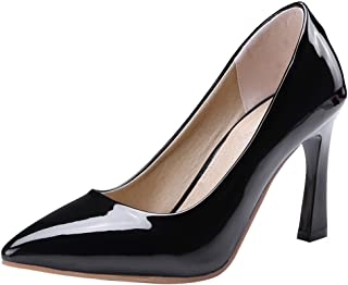 f7fa6d38850e Mofri Women s Classy Pointed Toe Pump Shoes - Burnished Low Cut Solid Color  - Slip on