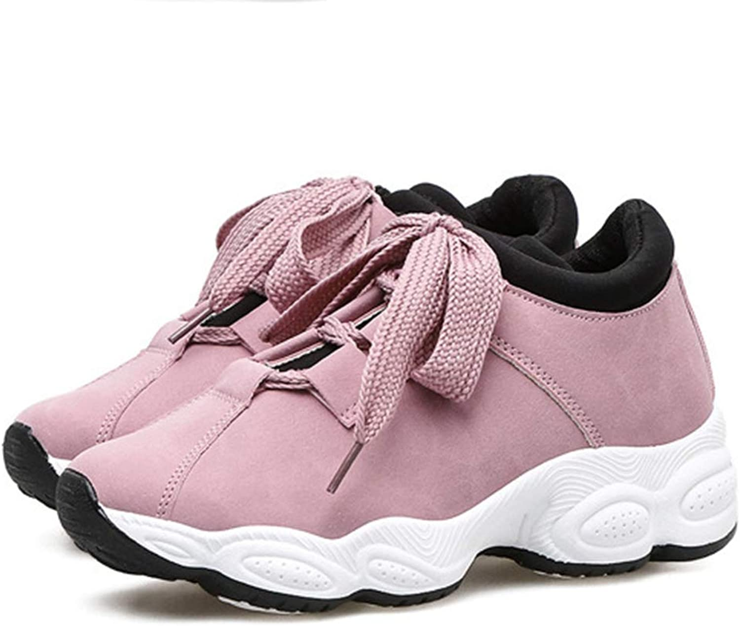 T-JULY Women's Fashion Platform Sneakers Running Sports Flats Breathable shoes Slip-on Dress Casual Walking shoes