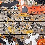 Kesote Konfetti Halloween Streudeko Party Glitter Tisch Deko Geist Spinne Kürbis Schädel Fledermaus (100g, ca. 5000 pcs) - 5