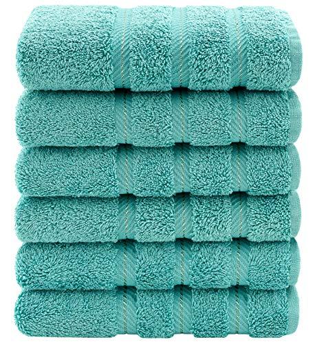 toalla turquesa de la marca American Soft Linen