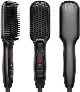 Beard Straightener,Hair straightener for Women and Men,(2019) Adjustable Temperatures Anti-Scald Beard Straightening Brush...