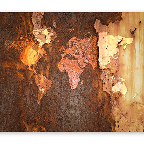 murando Fototapete Weltkarte 400x280 cm Vlies Tapeten Wandtapete XXL Moderne Wanddeko Design Wand Dekoration Wohnzimmer Schlafzimmer Büro Flur Landkarte Kontinente k-C-0059-a-a
