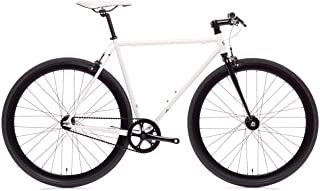 Ghoul Core-Line State Bicycle | Fixie Single Sped Fixed Gear Bike - Ghoul (White & Black) X-Small (46 cm)