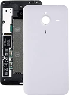 Lingland Battery Back Cover For Microsoft Lumia 640 XL (Black) cell phone rear covers placement parts (Color : White)