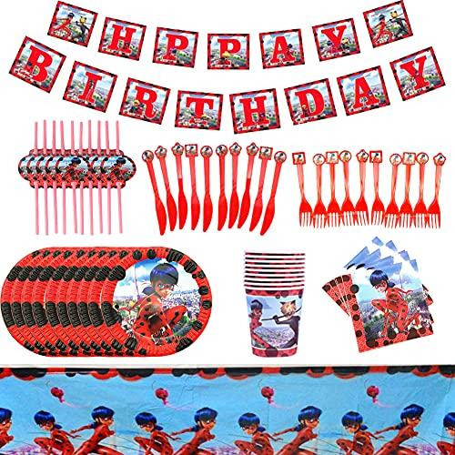 XXZY 72 Pcs Articoli per feste,Set di stoviglie usa e getta,Articoli per feste usa e getta,adatto Decorazioni per feste di compleanno per bambini, docce per bambini, decorazioni natalizie