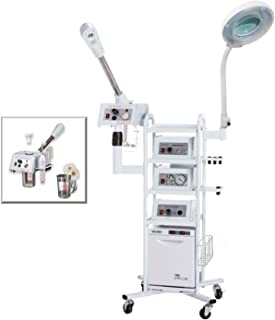 A13 Facial Machine: High Frequency Aromatherapy Steamer, Galvanic, Brush Massager, Vacuum Extractor, Spray Diffuser and Hot Towel Warmer