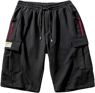 Plus Size Men Summer Fashion Casual Loose Patchwork Sport Beach Shorts Pants