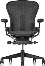 【正規品】Herman Miller (ハーマンミラー) アーロンチェア オフィスチェア Aサイズ グラファイト(ブラック) DC1堅床キャスター 12年保証 AER1A13DWALPG1G1G1DC1BK23103
