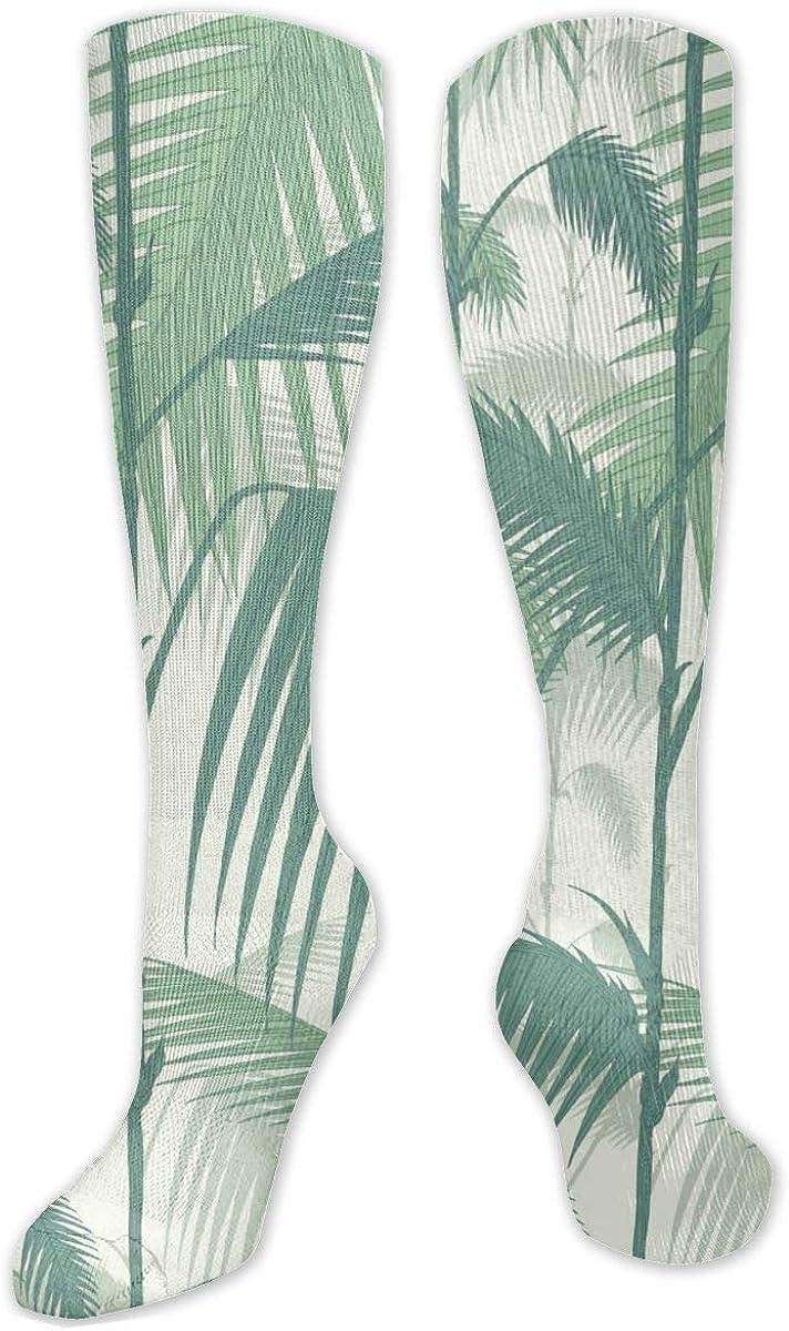Palm Tree Jungle Knee High Socks Leg Warmer Dresses Long Boot Stockings For Womens Cosplay Daily Wear