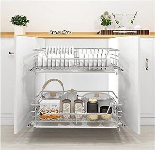 WWWFZS Organisateur d'armoire Coulissant, tiroir de Rangement Coulissant sous l'évier tiroir Coulissant Cuisine (Color:55...