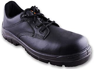 Dickies Men's Buckler Black Leather Safety Shoes - 8 UK/India (42 EU)