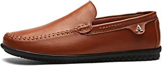 Men's Driving Shoes Loafer Slip On Shoes for Formal Casual Leather Comfortable Dress Shoe