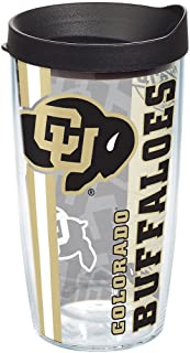 Tervis Colorado Buffaloes College Pride Tumbler with Wrap and Black Lid 16oz, Clear