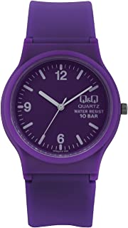 Q&Q For Women Purple Dial Rubber Band Watch - VP47J016Y