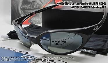 カスタム偏光サングラス オークリー OAKLEY EYEJACKET REDUX OO9438-01 MATTE BLACK COMBEX Polawing SPX151 8C HMM SILミラー